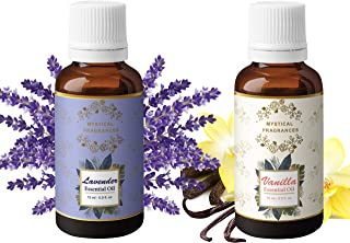 Mystical Fragrances Lavender and Vanilla Essential Oil, Pack of 2-15 ML