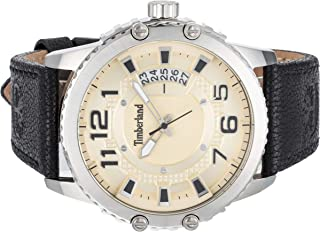 Timberland Men'S Beige Dial Leather Band Watch - Tbl15329Js-07