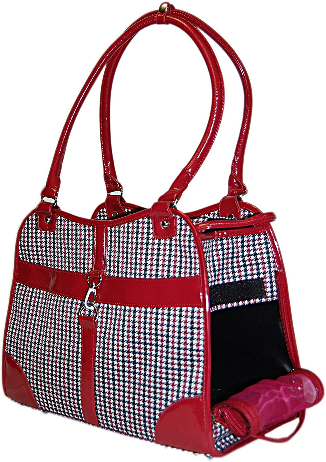 Anima Houndstooth Purse Carrier, 13.5Inch by 6.5Inch by 10.5Inch, Red by Anima International Corp.