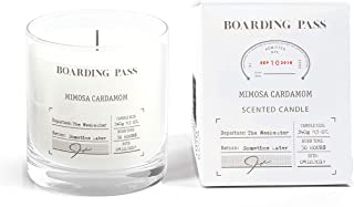 Boarding Pass Soy Candle, Burn on The Weekend, Almond Honey Violet Scented Candle, Clear, 5.6oz