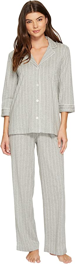 LAUREN Ralph Lauren - Cotton Jersey Notch Collar PJ Set