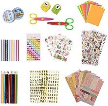 KATELUO Kit de Album de Fotos de Bricolaje, 59 piezas DIY Accesorios Decorativos, Conjunto de Pegatinas de Color, Cintas de Encaje, Cintas Adhesivas, Pegatinas Decorativas de Cartón
