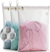 TENRAI 3 Pack (3 S ) Delicates Laundry Bags, Socks Fine Mesh Wash Bag for Underwear, Lingerie, Bra, Boxer, Use YKK Zipper,...