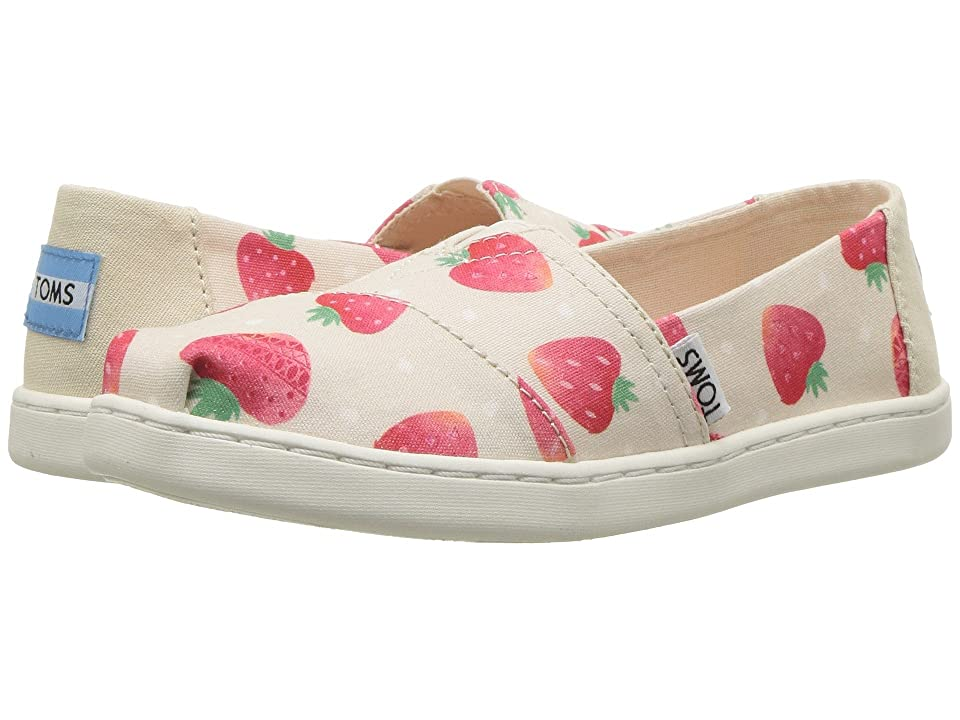 TOMS Kids Alpargata (Little Kid/Big Kid) (Birch Strawberries/Cream) Girl