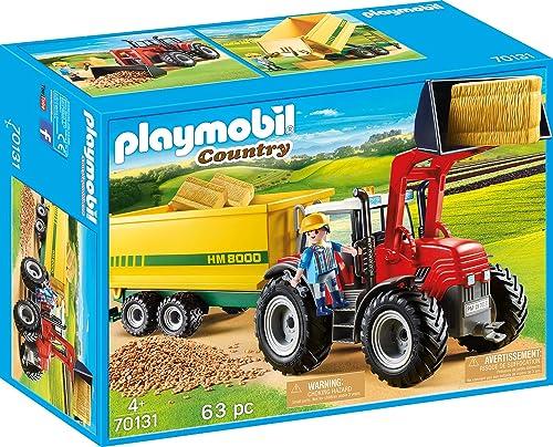 Playmobil - Grand Tracteur avec Remorque - 70131