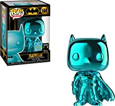 Funko Pop! DC Batman 80 Years Teal Chrome Batman 2019 Shared Sticker Exclusive SDCC