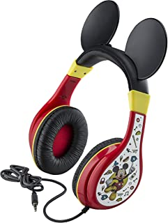 Mickey Mouse Kids Headphones for Kids Adjustable Stereo Tangle-Free 3.5Mm Jack Wired Cord Over Ear Headset for Children Parental Volume Control Kid Friendly Safe Perfect for School Home Travel