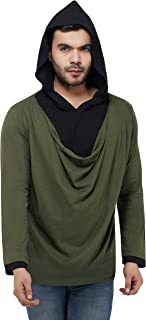 Lucky Bird Cotton Black and Green Winter Wear Full Sleeves Casual and Stylish Look Hoodie Tshirt for Men