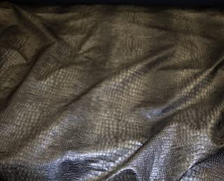 Black and Grey Color Embossed Crocodile Upholstery Leather Vinyl Fabric