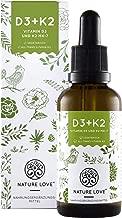 Vitamin D3 + K2 Tropfen 50ml. Premium: VitaMK7 von Gnosis® 99,7% All Trans + besonders stabiles und hoch bioverfügbares Vitamin D3 (1000 IE). Flüssig, hochdosiert, hergestellt in Deutschland