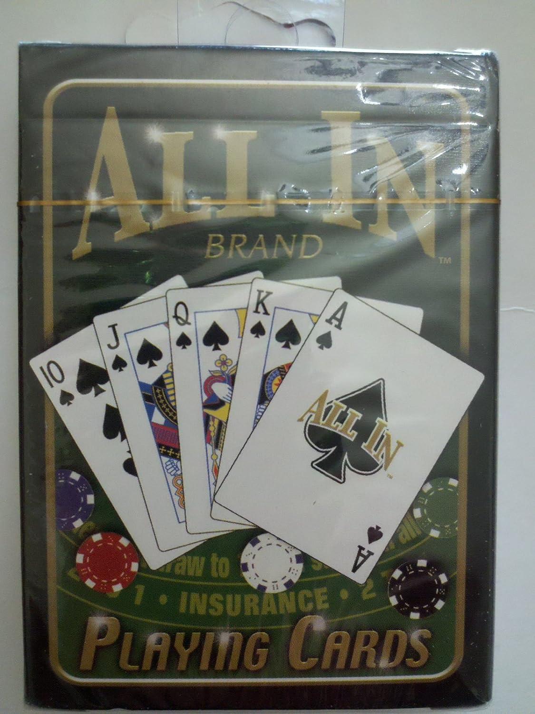 perfecto Varios Varios Varios novedad-Juguetes A131 All In Marca Poker Naipes  precios mas bajos