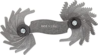 Brown & Sharpe 599-630 Screw Pitch Gage, 22 Blades, 60 Degree, 9-40 TPI for V-Shaped Fine, Coarse, and Pipe Threads
