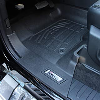 Westin 72-110084 Black Sure-Fit Front Floor Liner for Ford Duty Super/Crew Cab 2017-2018