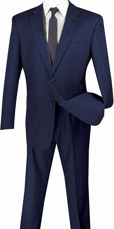 Men's Dress Suit Regular Fit 2 Piece 2 Button Textured Weave