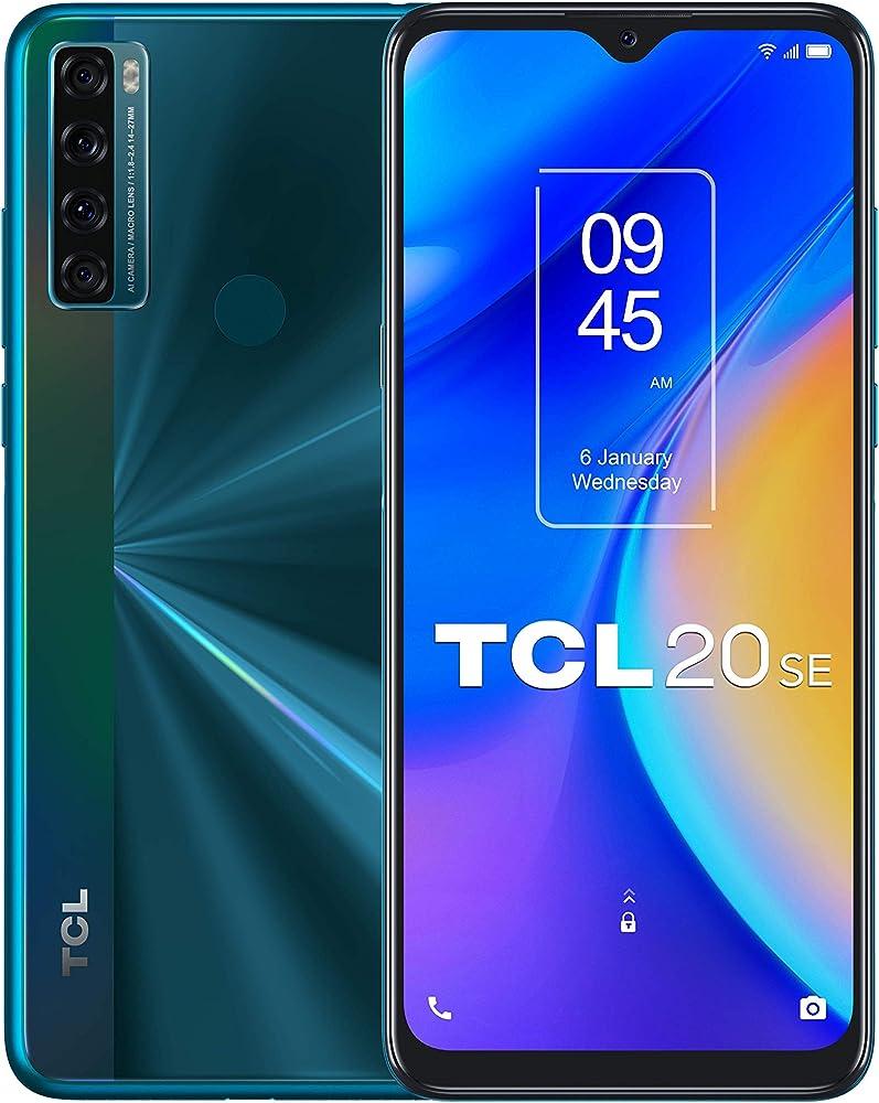 "Tcl 20se, 6.82"" hd+, 2sim, quadrupla cam,4gb+64gb, smartphone android 11 T671H"