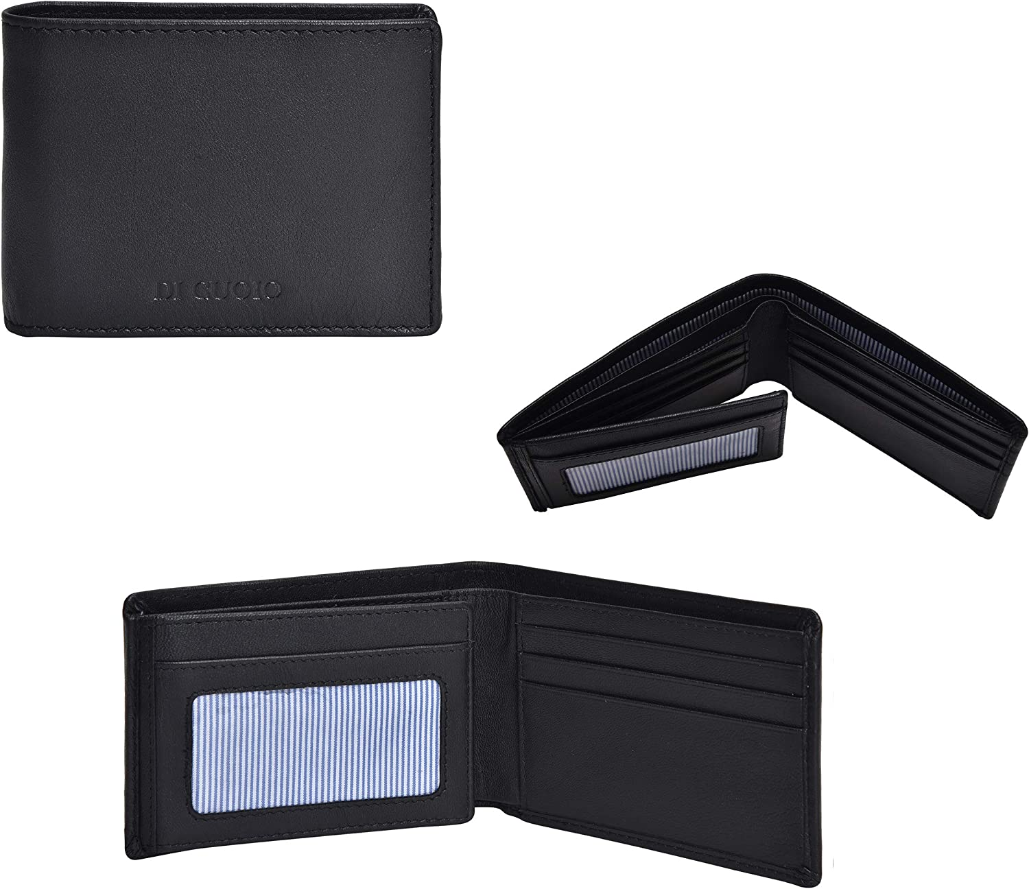 Di Cuoio Wallet for Men-Genuine Leather RFID Blocking Bifold Stylish Wallet