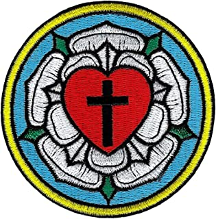 Luther Rose Embroidered Patch Lutheran Church Seal Iron-On Christian Emblem