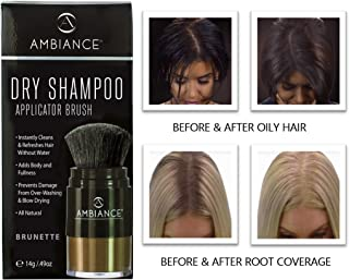 Ambiance Dry Shampoo (Brunette)–Refreshes, Conceals Roots & Volumizes. Absorbs Oil to Clean Hair, Boosting Body & Shine. Covers Roots Between Colorings. Adds Fullness to All Hair Types.