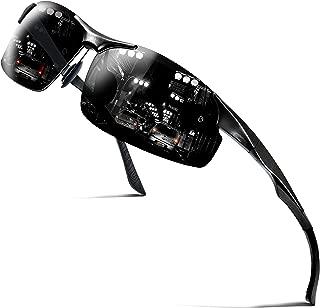 Mens Polarized Sunglasses UV Protection Golf Sunglasses for Men Unbreakable Metal Frame Ultra Light