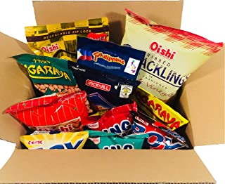 Balikbayan Snacks Box- Variety Assortment of Classic Filipino Snacks (9 counts Total)