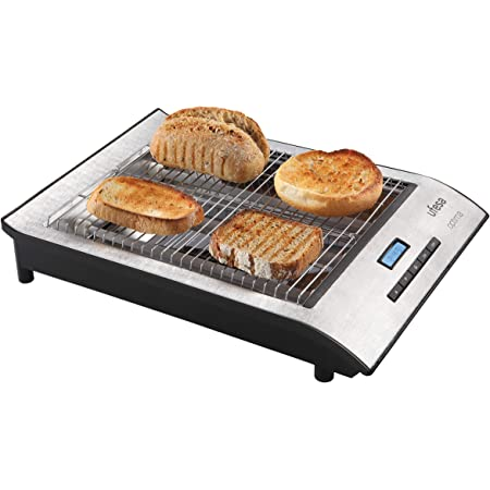 Ufesa TT7920 Optima - Tostador plano, 650 W, Pantalla LCD, Selección del grado de tostado, Ajuste digital