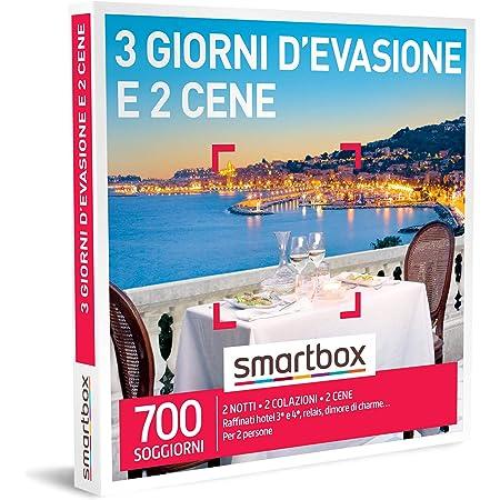 Smartbox - 3 Giorni d'Evasione e 2 Cene - Cofanetto Regalo Coppia, 2 Notti con Colazione e 2 Cene per 2 Persone, Idee Regalo Originale
