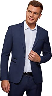 Ultra Men's Slim-Fit Blazer with Contrast Details