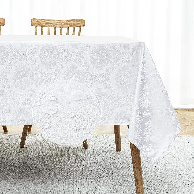Romanstile Jacquard Rectangle Tablecloth Under blast sales - Phoenix Mall Spill Waterproof Proo