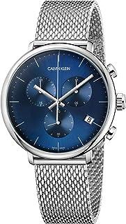 Calvin Klein Unisex Adult Chronograph Quartz Watch with Stainless Steel Strap K8M2712N