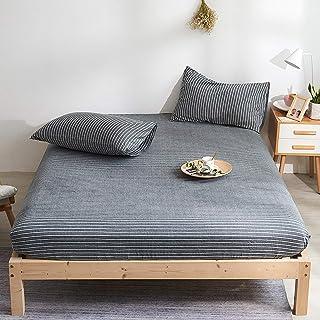 Premium Quality Plain Fitted Sheet, Soft & Cosy Fleece Bed Linen, Bedding, Kingsize Bedsheet,180x200cm+30cm