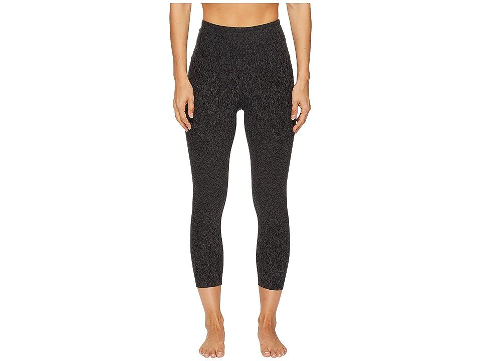 Beyond Yoga Spacedye High-Waisted Capri Leggings (Black/Charcoal Spacedye) Women