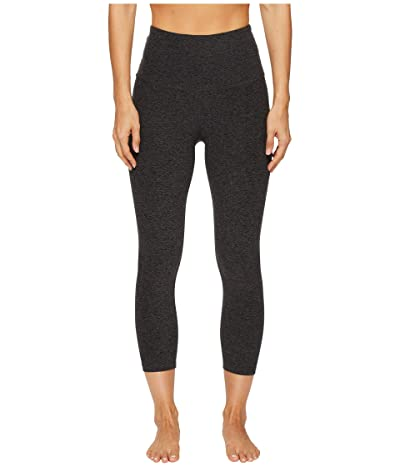 Beyond Yoga Spacedye High Waisted Capri Leggings (Black/Charcoal Spacedye) Women