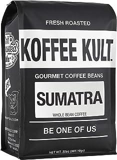 Sumatra Mandheling Coffee Beans, Whole Bean - Fresh Roasted by Koffee Kult (32oz)