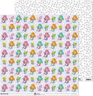 Anita y Su Mundo Collection Sous la mer Papiers de scrapbooking, papier, sirènes, 30,5 x 30,5 cm