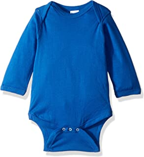 4411 Rabbit Skins Infant Baby Rib Long-Sleeve Creeper - Royal - 12M