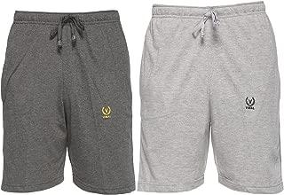 VIMAL JONNEY Multicolor Cotton Blended Shorts for Men (Pack of 2)