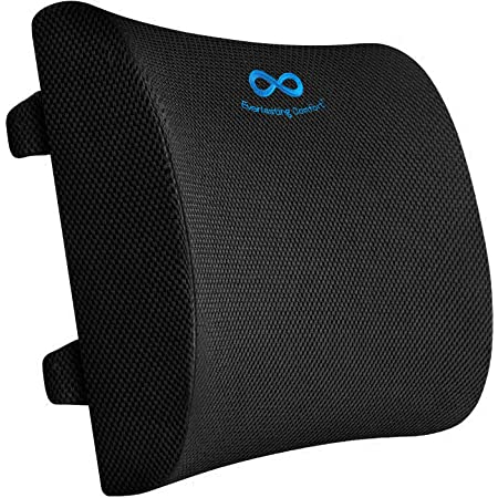Lumbar Support,Back Cushion Inflated,Adjustable Backrest with 3D Mesh Breathable Cover Lower Middle Back Pain Relief Orthopedic Support for Car Seat,Computer//Office Chair and Posture Improve