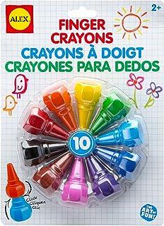 ALEX Toys Artist Studio 10 Finger Crayons 248S Multi Color