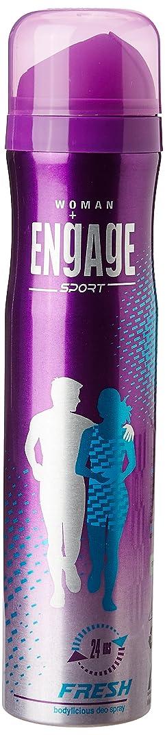 静脈病的葉を集めるEngage Sport Fresh Deodorant Spray For Women, 110gm / 165ml (Weight May Vary)