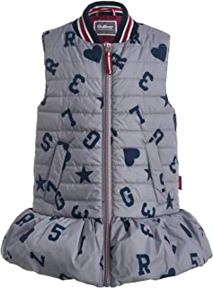 Pockets Padded Zip Poppers Middle Lenght Removable Fur for 3-6 Years High Collar Hooded GULLIVER Girl Quilted Winter Jacket Animal Patch Casual Winter Colour White Down