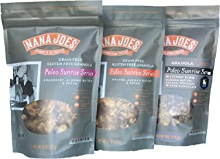 Nana Joes Granola Certified Gluten- Free Paleo Sunrise Series 8oz 3PK; Variety Pack