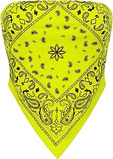 Design by Olivia Women's Plain Stretchy Asymmetric Tie Knob Open Back Bandana Crop Top Shirt