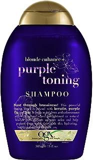 OGX Blonde Enhanced + Purple Toning Shampoo, Blonde-Toning to Personalize Your Blonde, 13oz