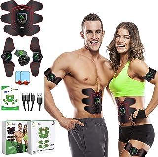 GreenMoon Elektrostimulator voor spieren, massagegordel, stimulator voor buikspieren, EMS, stimulatieapparaat voor vrouwen...