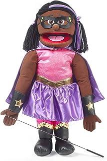 "25"" Superhero, Black Girl, Full Body, Ventriloquist Style Puppet"