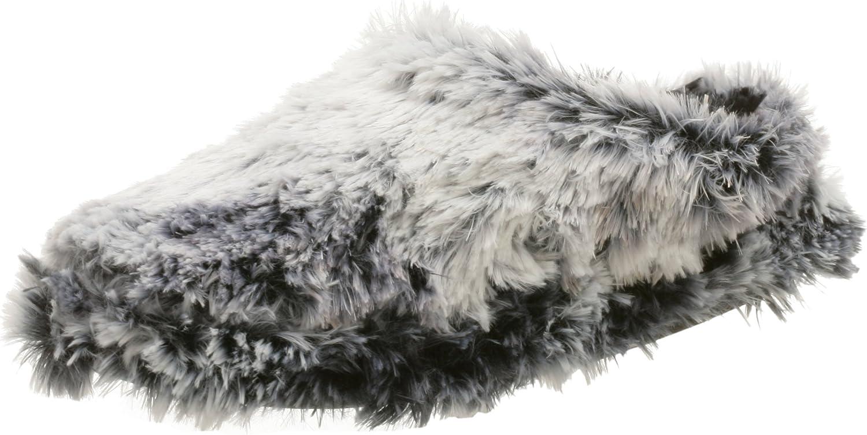Dearfoams Women's Acrylic Pile Platform Slipper,Black Frost,S