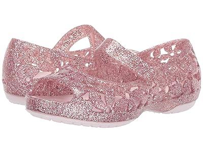 Crocs Kids Isabella Flower Flat (Toddler/Little Kid) (Barely Pink) Girls Shoes