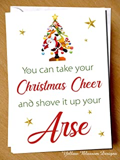 Funny Joke Rude Naughty Christmas Greeting Card Xmas Hilarious Cheeky Quirky Alternative Joke Present Gift Secret Santa For Him Her Mum Dad Brother Sister Best Friend