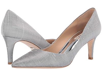 Badgley Mischka Lana (Silver Indian Silk) High Heels