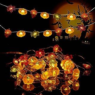 2 Pack Halloween Pumpkin String Light, Upkey 3D Pumpkin String Lights, lampki na Święto Dziękczynienia, lampki LED na Świę...
